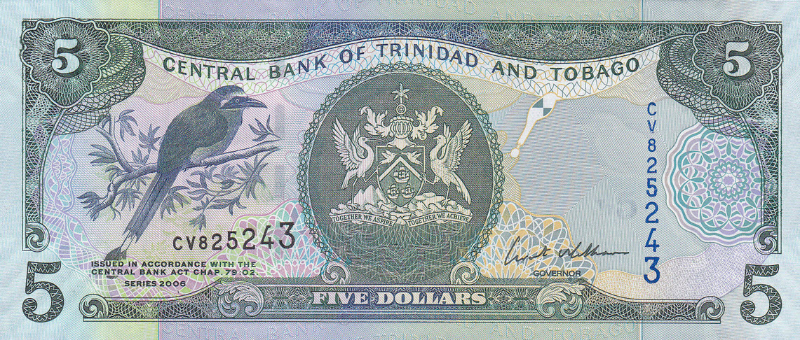 P47 Trinidad & Tobago 5 Dollars Year 2006